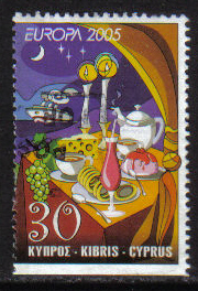 Cyprus Stamps SG 1097a 2005 30c Booklet stamp - USED (h245)
