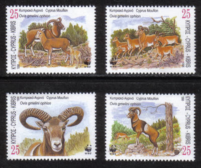 Cyprus Stamps SG 941-44 1998 WWF World Wildlife Fund Mouflon Seperated - MI