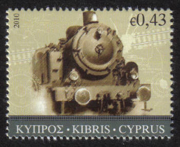 Cyprus Stamps SG 1223 2010 43 cent Cyprus train - MINT