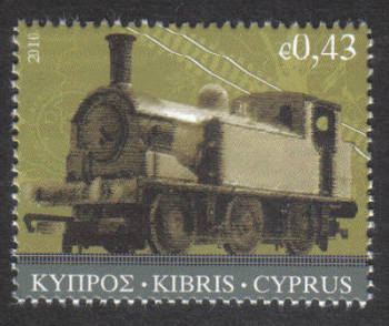Cyprus Stamps SG 1222 2010 43 cent Cyprus train - MINT