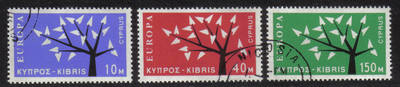Cyprus Stamps SG 224-26 1963 Europa Tree - CTO USED (h321)