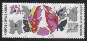 Cyprus Stamps SG 778 1990 15c - USED (h335)