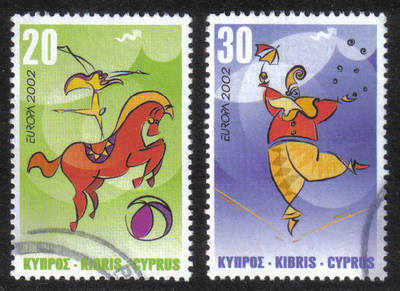 Cyprus Stamps SG 1029-30 2000 Europa Circus - USED (h361)