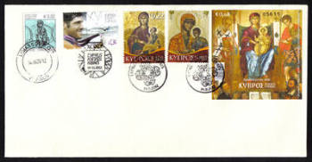 Cyprus Stamps SG 2012 (h) 14th of November Issues Christmas and Pavlos Kontides London Olympic medallist - Unofficial FDC (h370))