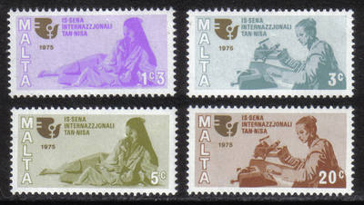 Malta Stamps SG 0539-42 1975 Womens Year - MINT