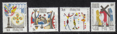 Malta Stamps SG 0555-58 1976 Maltese folklore - MINT
