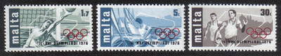 Malta Stamps SG 0559-61 1976 Montreal Olympic games - MINT