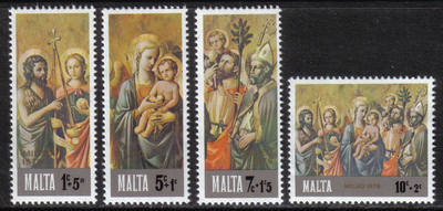 Malta Stamps SG 0568-71 1976 Christmas - MINT