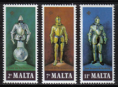 Malta Stamps SG 0572-74 1977 Suits of Armour - MINT