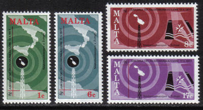 Malta Stamps SG 0580-83 1977 World Telecoms day - MINT