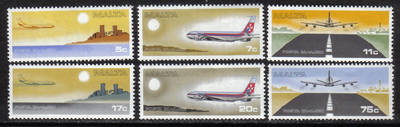 Malta Stamps SG 0605-10 1978 Air mail stamps Airplane - MINT