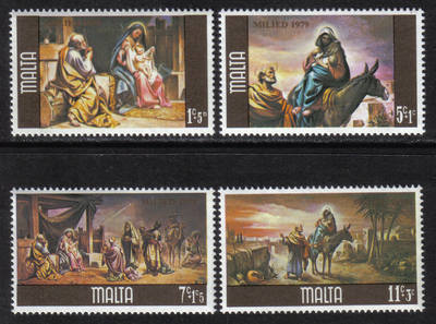Malta Stamps SG 0634-37 1979 Christmas - MINT