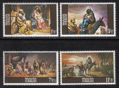 Malta Stamps SG 0634-37 1979 Christmas - MINT