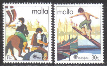 Malta Stamps SG 0659-60 1981 Europa Folklore - MINT