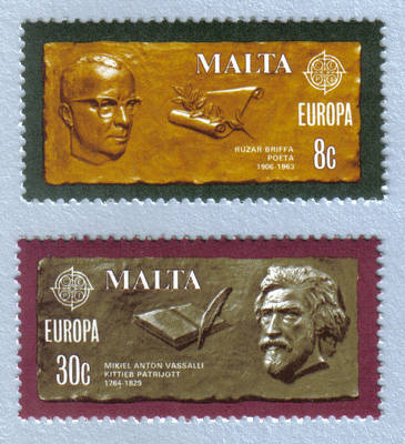 Malta Stamps SG 0646-47 1980 Europa Personalities - MINT