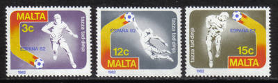 Malta Stamps SG 0694-96 1982 Spain World cup football - MINT