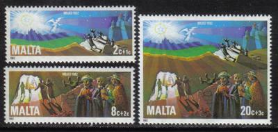 Malta Stamps SG 0698-700 1982 Christmas - MINT