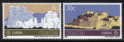 Malta Stamps SG 0712-13 1983 Europa - MINT