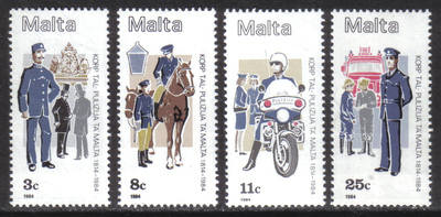 Malta Stamps SG 0738-41 1984 Maltese Police force - MINT