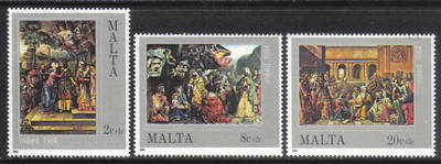 Malta Stamps SG 0745-47 1984 Christmas Paintings - MINT