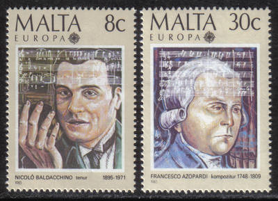 Malta Stamps SG 0759-60 1985 Europa music year - MINT