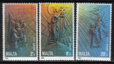 Malta Stamps SG 0769-71 1985 Christmas - MINT