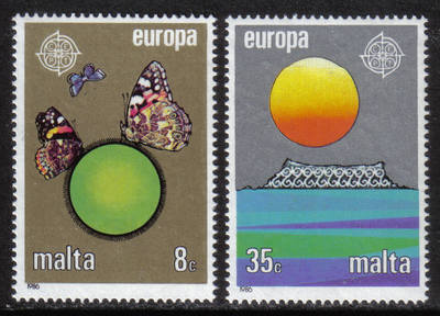 Malta Stamps SG 0779-80 1986 Europa Conservation - MINT