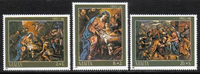 Malta Stamps SG 0789-91 1986 Christmas - MINT
