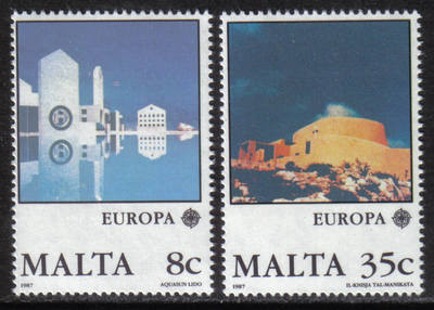 Malta Stamps SG 0800-01 1987 Europa Modern Architecture - MINT