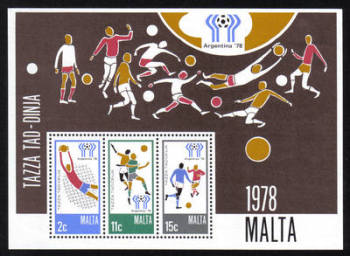 Malta Stamps SG 0604 MS 1978 Argentina World Cup Football - MINT