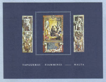 Malta Stamps SG 0640 MS 1980 Tapestries - MINT