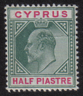 Cyprus Stamps SG 050 1902 Edward VII Half Piastre - MLH (h396)