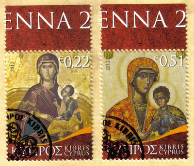 Cyprus Stamps SG 2012 (h) Christmas Virgin Mary Icons - CTO USED (h377)