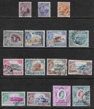 Cyprus Stamps SG 188-202 1962 Republic Definitives Views - USED (h407)