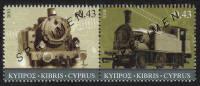 Cyprus Stamps SG 1222-23 2010 The Cyprus Railway (version 1) - Specimen MINT