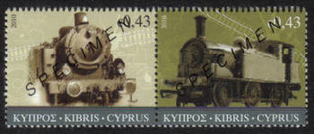Cyprus Stamps SG 1222-23 2010 The Cyprus Railway (version 1) - Specimen MINT
