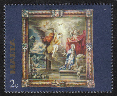 Malta Stamps SG 0576 1977 2c Rubens Flemish Tapestries  - MINT