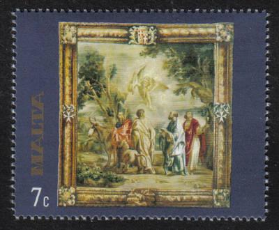 Malta Stamps SG 0577 1977 7c Rubens Flemish Tapestries  - MINT