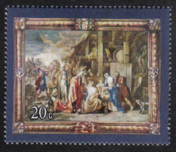 Malta Stamps SG 0579 1977 20c Rubens Flemish Tapestries - MINT