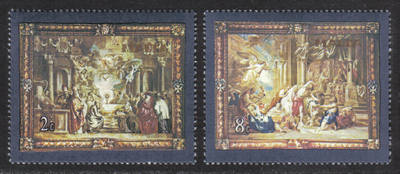 Malta Stamps SG 0638-39 1980 Flemish Tapestries 4th series - MINT