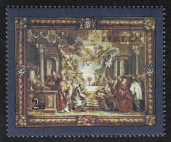 Malta Stamps SG 0638 1980 2c Flemish Tapestries - MINT