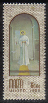 Malta Stamps SG 0649 1980 6c Christmas Paintings by A Inglott - MINT