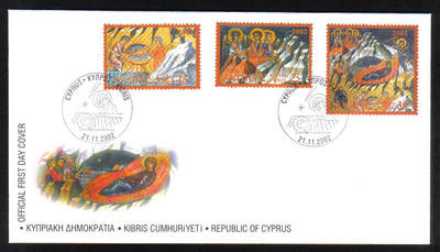 Cyprus Stamps SG 1045-47 2002 Christmas - Official FDC