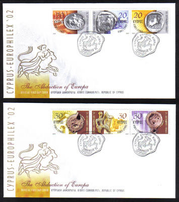 Cyprus Stamps SG 1038-43 2002 Europhilex - Official FDC