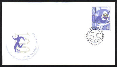 Cyprus Stamps SG 1069 2004 FIFA Centenary - Official FDC