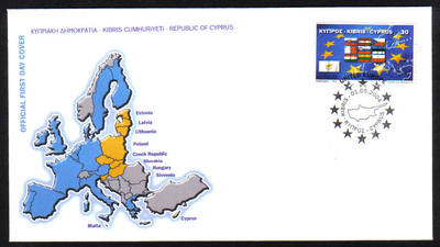 Cyprus Stamps SG 1071 2004 EU Admission - Official FDC