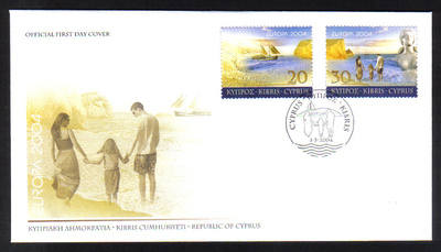 Cyprus Stamps SG 1073-74 2004 Europa Holidays - Official FDC