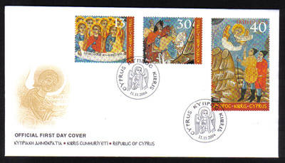 Cyprus Stamps SG 1085-87 2004 Christmas - Official FDC