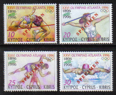 Cyprus Stamps SG 906-09 1996 Atlanta Olympic Games - Specimen MINT