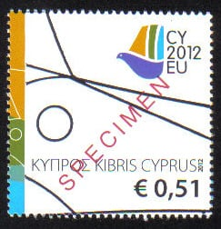 Cyprus Stamps SG 2012 (f) Cyprus Presidency of the Council of the EU - Spec